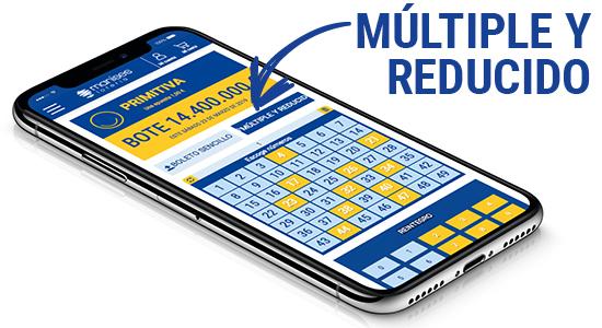 Configura tu jugada reducida de La Primitiva, puedes elegir la reducción al 5, al 4 o al 3.