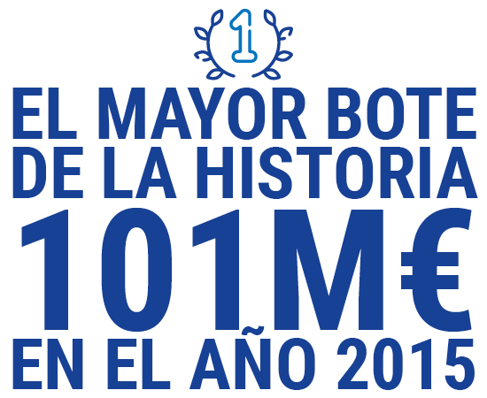 El mayor bote de la historia de la lotería primitiva repartió 101 Millones €