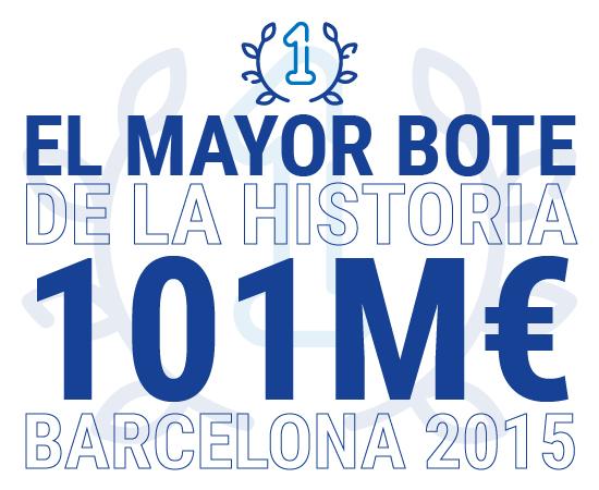 El mayor bote de la historia de la Lotería Primitiva toco en Barcelona en 2015