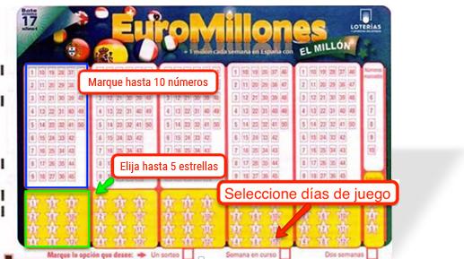 En el boleto múltiple de Euromillones puedes marcar un máximo de 10 números