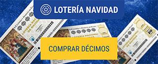 Comprar décimos de lotería navidad