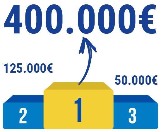 1.er premio (el Gordo): 400.000 euros