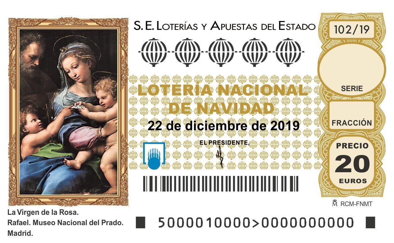 Imagen décimo Lotería de Navidad 2019
