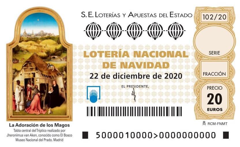 ¿Cómo es el décimo de la Lotería de Navidad 2020?