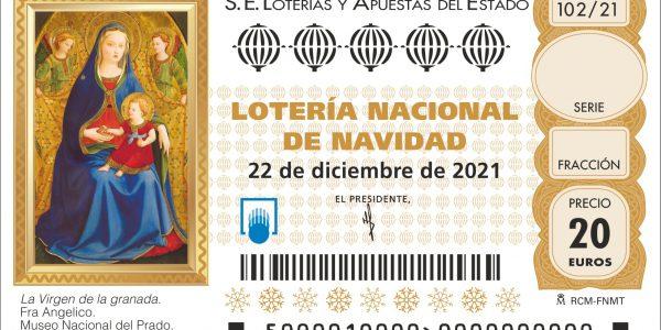 Imagen del décimo de la Lotería de Navidad 2021
